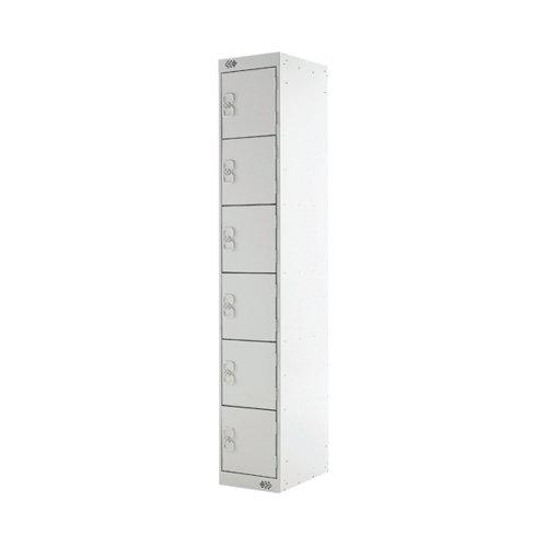 Six Compartment Locker D450mm Light Grey Door MC00068