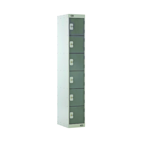 Six Compartment Locker D450mm Dark Grey Door MC00069