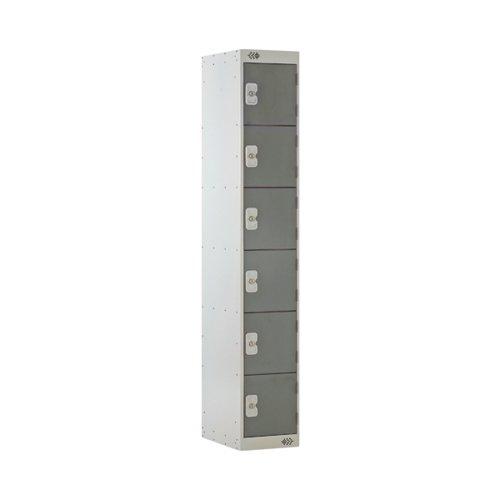 Six Compartment Locker 300x450x1800mm Dark Grey Door MC00069