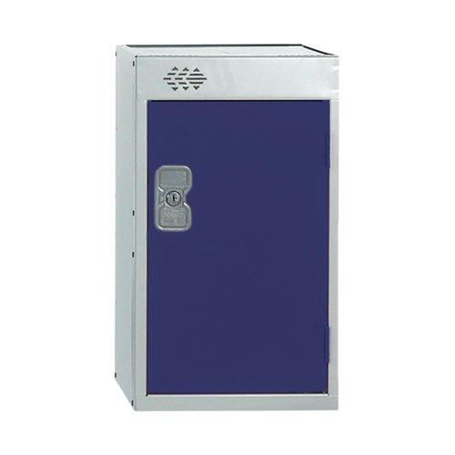One Compartment Quarto Locker 300x300x511mm Blue Door MC00073