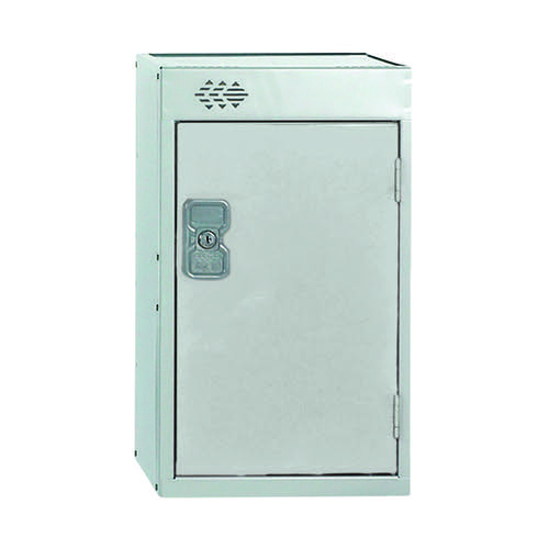One Compartment Quarto Locker D300mm Light Grey Door MC00074