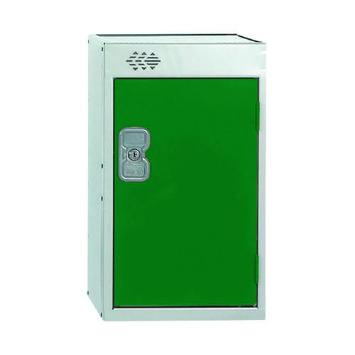 One Compartment Quarto Locker 300x300x511mm Green Door MC00076