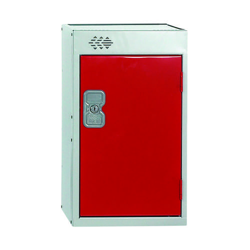 One Compartment Quarto Locker D300mm Red Door MC00077