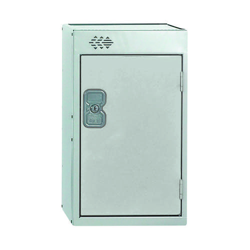 One Compartment Quarto Locker 300x450x511mm Light Grey Door MC00080