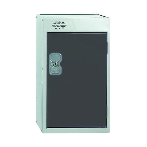 One Compartment Quarto Locker D450mm Dark Grey Door MC00081