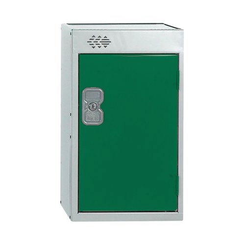 One Compartment Quarto Locker D450mm Green Door MC00082