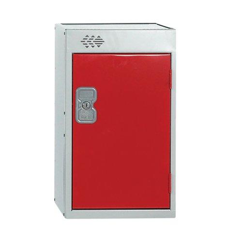 One Compartment Quarto Locker D450mm Red Door MC00083