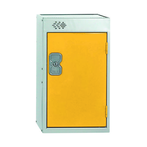 One Compartment Quarto Locker D450mm Yellow Door MC00084
