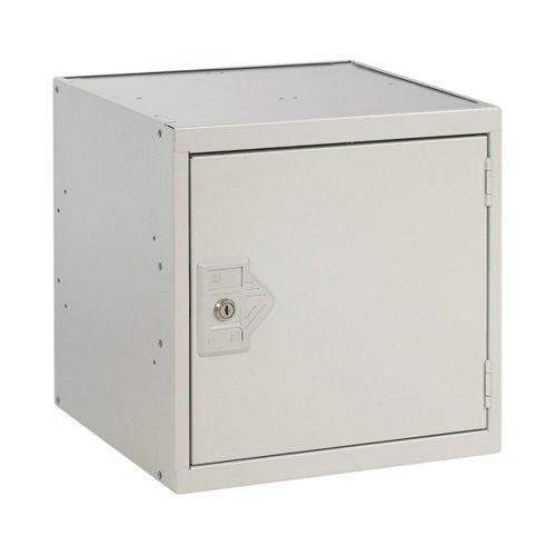 One Compartment Cube Locker 300x300x300mm Light Grey Door MC00086