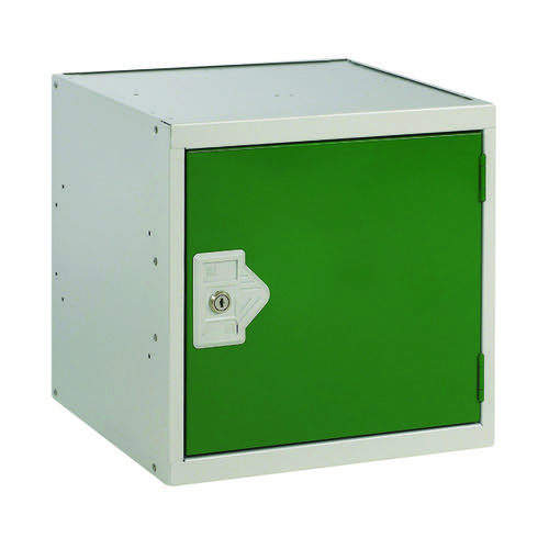 One Compartment Cube Locker D300mm Green Door MC00088