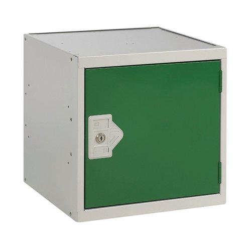 One Compartment Cube Locker 300x300x300mm Green Door MC00088