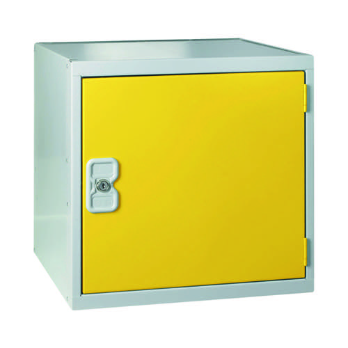 One Compartment Cube Locker D300mm Yellow Door MC00090