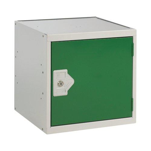 One Compartment Cube Locker D380mm Green Door MC00094
