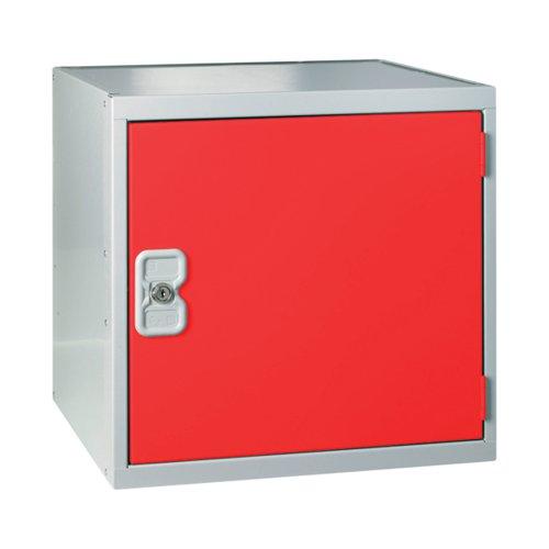 One Compartment Cube Locker 380x380x380mm Red Door MC00095