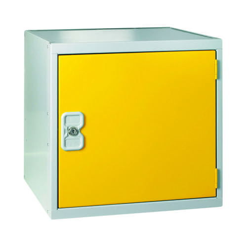 One Compartment Cube Locker D380mm Yellow Door MC00096