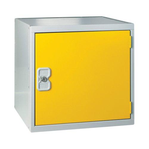 One Compartment Cube Locker 380x380x380mm Yellow Door MC00096