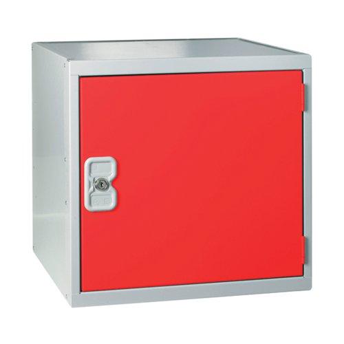 One Compartment Cube Locker 450x450x450mmm Red Door MC00101
