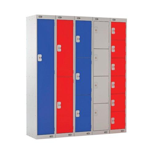 Express Standard Locker 1 Door 300x300x1800mm Light Grey/Blue MC00136