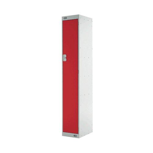 Express Standard Locker One Compartment Red 300mm Deep MC00138