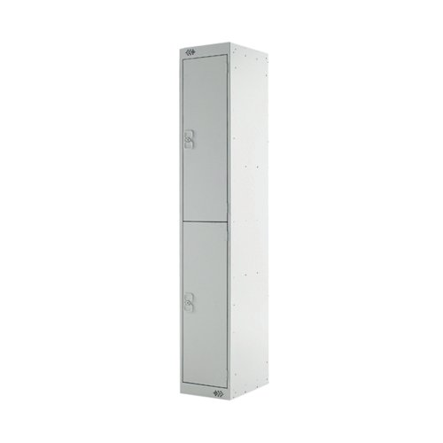 Express Standard Locker 2 Door W300xD300xH1800mm Light Grey MC00140