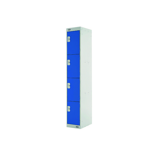 Four Compartment Express Standard Locker D300mm Blue Door MC00145