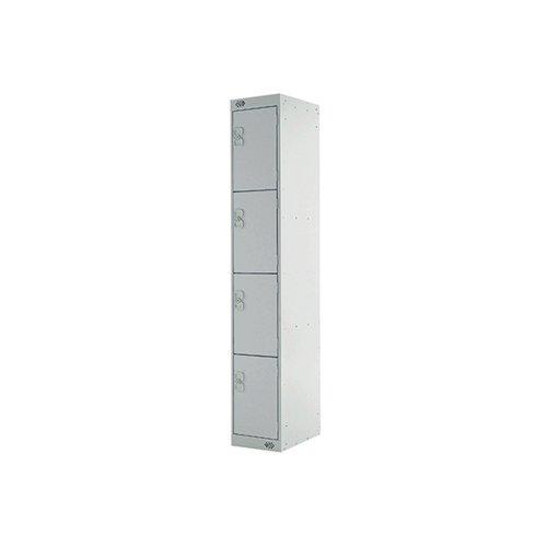Four Compartment Express Standard Locker D300mm Light Grey Door MC00146