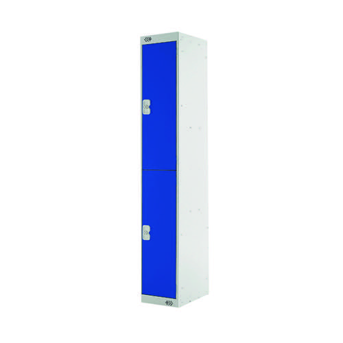 Two Compartment Express Standard Locker D450mm Blue Door MC00154