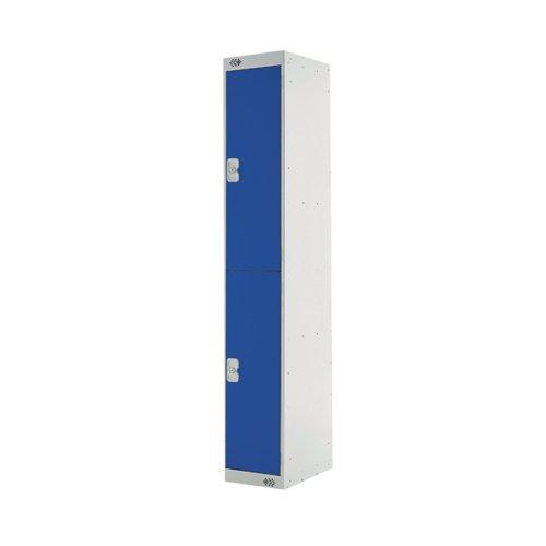 Two Compartment Express Standard Locker 300x450x1800mm Blue Door MC00154