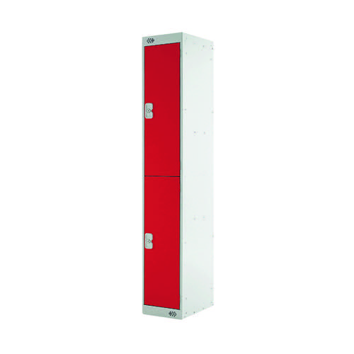 Two Compartment Express Standard Locker D450mm Red Door MC00156