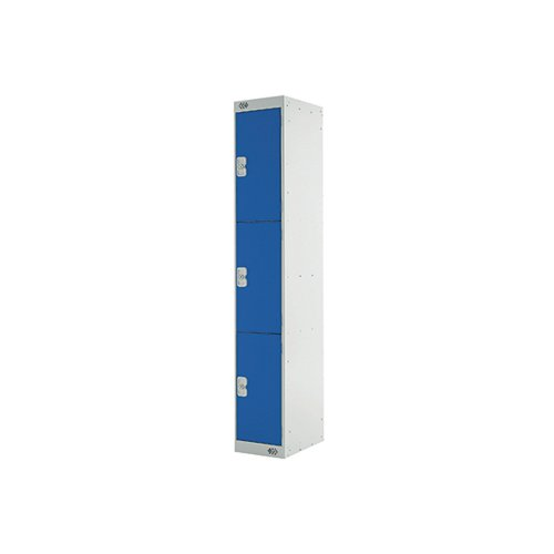 Three Compartment Express Standard Locker D450mm Blue Door MC00157