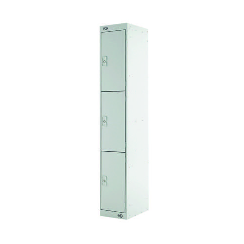 Three Compartment Express Standard Locker D450mm Light Grey Door MC00158