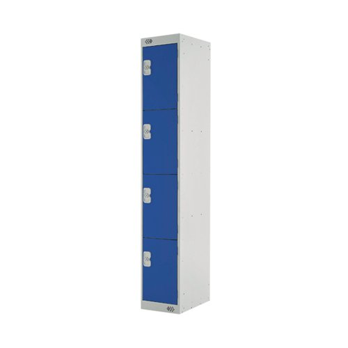 Four Compartment Express Standard Locker D450mm Blue Door MC00160