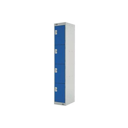 Four Compartment Express Standard Locker 300x450x1800mm Blue Door MC00160