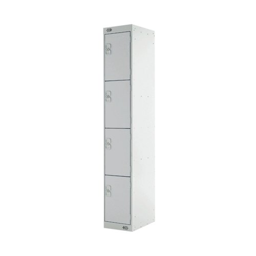 Four Compartment Express Standard Locker D450mm Light Grey Door MC00161