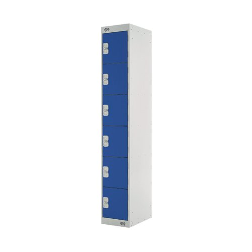 Six Compartment Express Standard Locker D450mm Blue Door MC00163