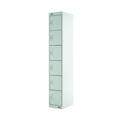 Six Compartment Express Standard Locker D450mm Light Grey Door MC00164
