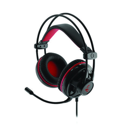 MediaRange Gaming Wired 5.1 Surround Sound Headset with Red LED Backlight Black/Red MRGS300
