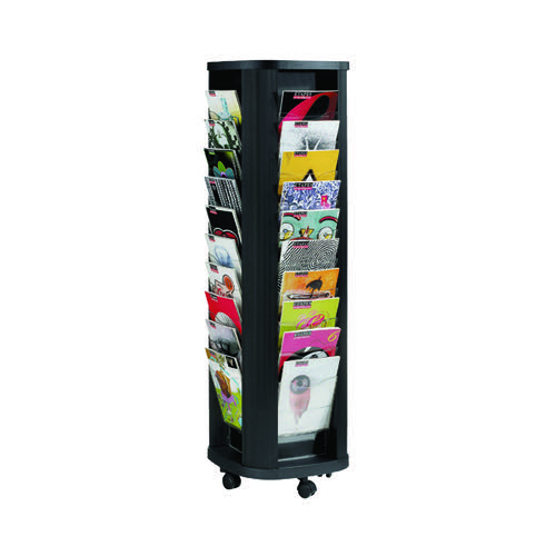 Fast Paper Mobile A4 Carousel Literature Display 40 Compartments F27301