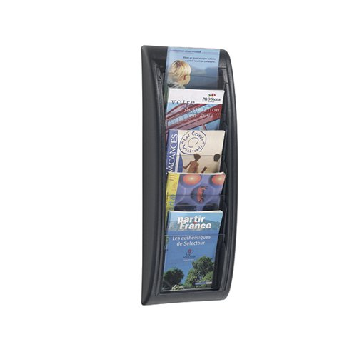 Fast Paper Quick Fit System Wall Display 5 x A5 Black F406301
