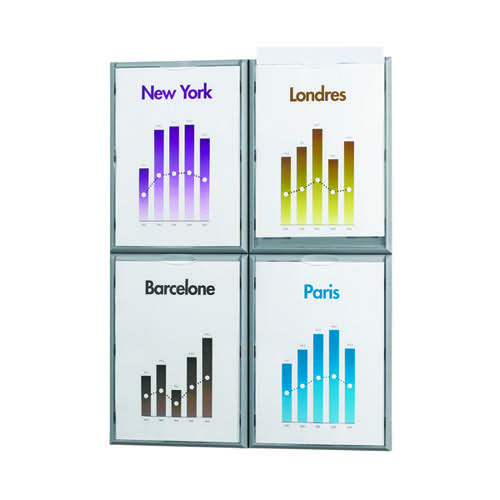 Fast Paper A4 Information Display Silver 4066X4.35