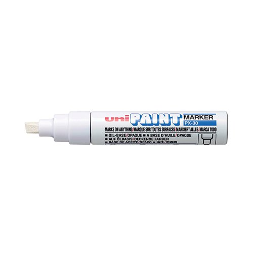 Unipaint PX-30 Paint Marker Broad Chisel White (Pack of 6) 151183000