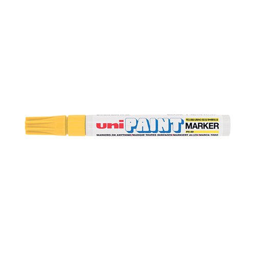 Unipaint PX-20 Paint Marker Medium Bullet Yellow (Pack of 12) 545509000