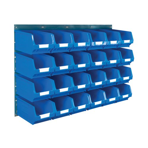 Barton Wall Mounted Bin Kit 2 Panels 24 Blue Containers 010206B