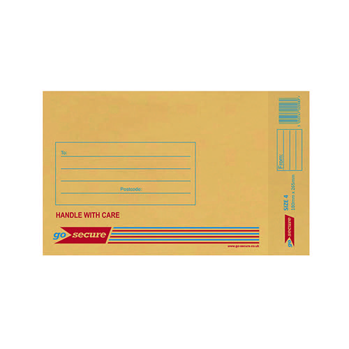 GoSecure Bubble Lined Envelope Size 4 170 x 245mm Gold (Pack of 100) ML10046