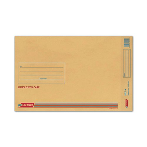 GoSecure Bubble Envelope Size 9 290x435mm Gold (Pack of 50) ML10058