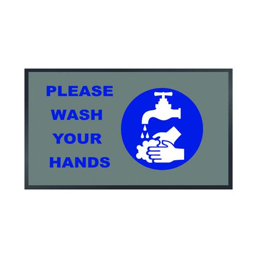 Please Wash Your Hands Tap Mat 85 x 150cm 19258654