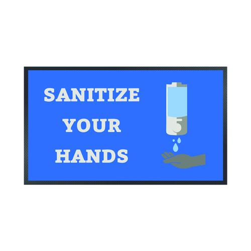 Sanitise Your Hands Mat 85 x 150cm 19258655