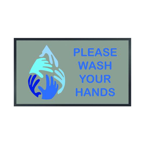Please Wash Your Hands Water Droplet Mat 85 x 150cm 19258657