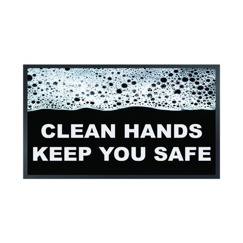 Clean Hands Keep Safe Mat 85 x 150cm 19258658