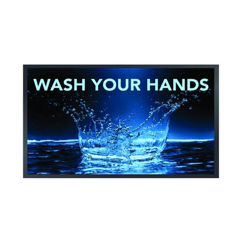 Wash Your Hands Splash Mat 85 x 150cm 19258659